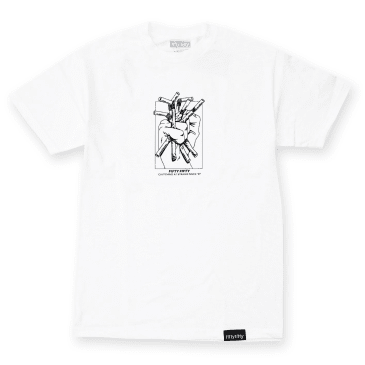 Fifty Fifty Clutching at Straws T-Shirt White