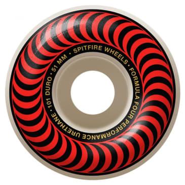 Spitfire Wheels - Spitfire Formula Four Classic 99 Red Skateboard Wheels | 51mm