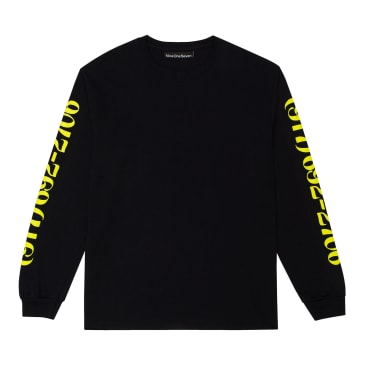 Call Me 917 Dialtone Long Sleeve T-Shirt - Black