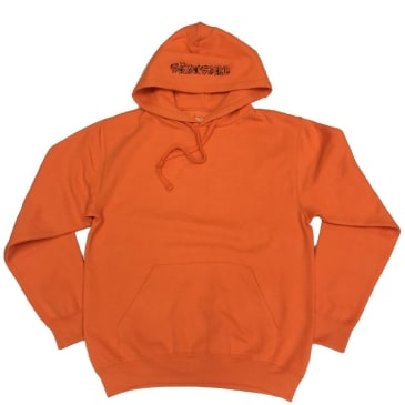 Tuesdays Ye Olde Embroidered Hoodie - Safety Orange / Black