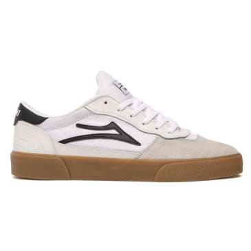 Lakai Cambridge Suede Skate Shoes - White / Black / Gum