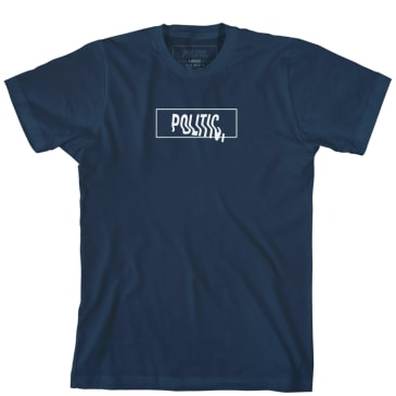 Politic Warped T-Shirt - Navy