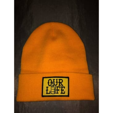Our Life Patch Beanie/Yellow