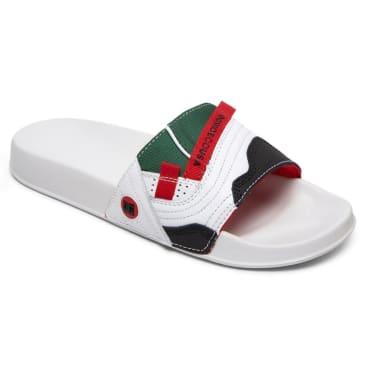 DC Williams Slide (White / Red)