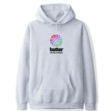 Butter Goods Telecom Hoodie - Heather Grey