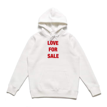 Chrystie NYC Love For Sale Pullover Hoodie - White