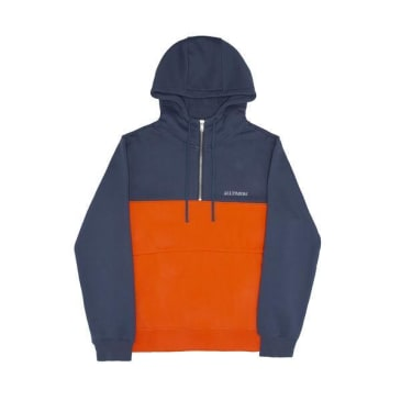 Alltimers Struck Half Zip - Blue/Orange