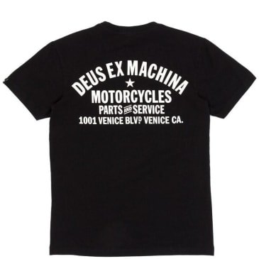 Deus Ex Machina Venice Address T-Shirt - Black
