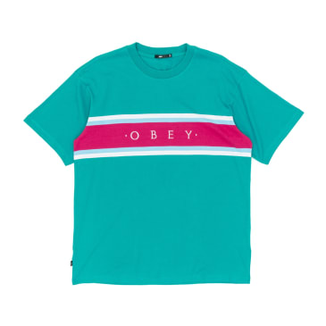 Obey Charm Classic T-Shirt - Blue/Green