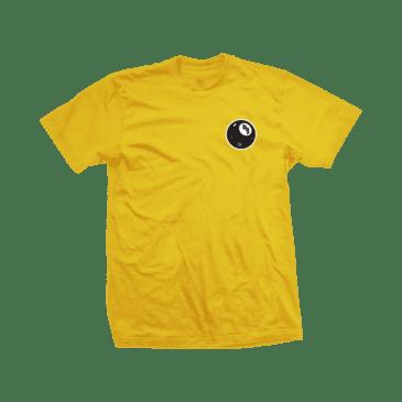 Shake Junt Skateboard 8 Ball Tee - Yellow