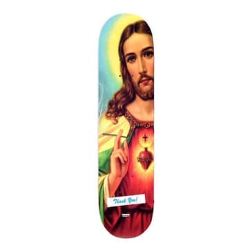 Fake Scum Jesus Is Awesome Skateboard Deck 8.25""