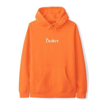 """BUTTER GOODS- """"CLASSIC PULL OVER HOODIE"""" (ORANGE)"""