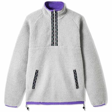 Butter Goods Glacier Sherpa 1/4 Zip - Light Grey