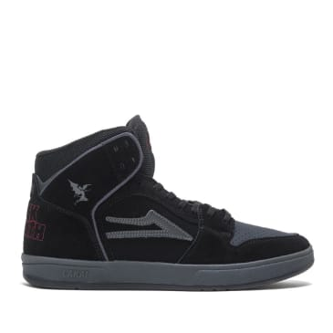 Lakai x Black Sabbath Telford Suede Skate Shoes - Black / Grey