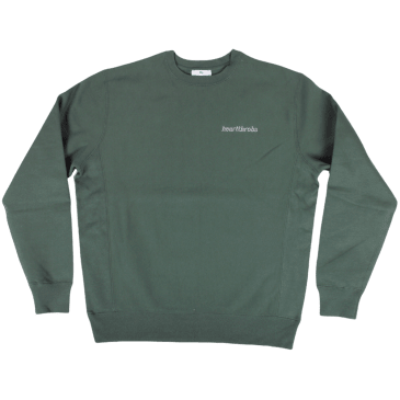 Heartthrobs Cross Weave Logo Crewneck Forest