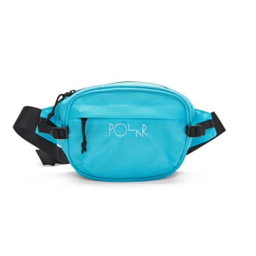Polar Skate Co Cordura Script Logo Hip Bag - Aqua
