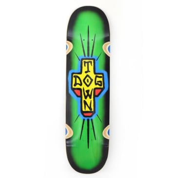 Dogtown Spray Cross Loose Trucks Skateboard Deck Green/Black Fade - 8.5