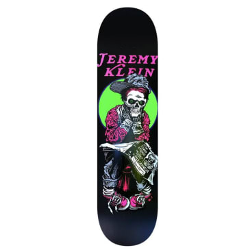 Hook Ups Jk Industries Black Eye Kid Skull Matte Black Skateboard Deck - 8.5