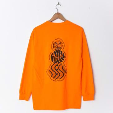 Quartersnacks Flyer Longsleeve Orange (Back Print)