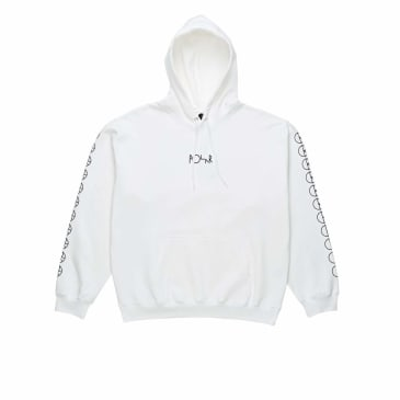 Polar Skate Co Racing Hoodie - White / Black