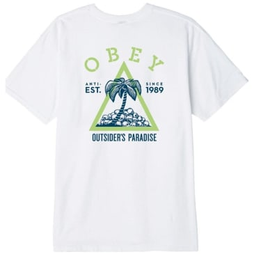 OBEY Outsider'S Paradise T-Shirt - White