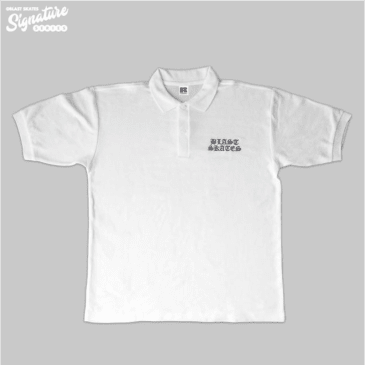 Blast Skates Jake Snelling Aggression Session Polo Shirt - White