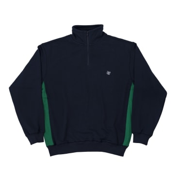 Bronze 56K Microdose 1/4 Zip Sweater - Navy/Green