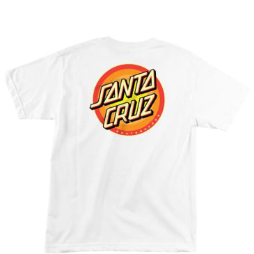 Santa Cruz Gleam Dot T-Shirt - White