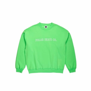 Polar Skate Co Outline Crewneck - Gecko Green