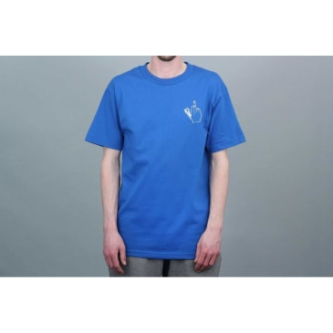 Doom Sayers Club Middle Finger T-Shirt - Royal Blue