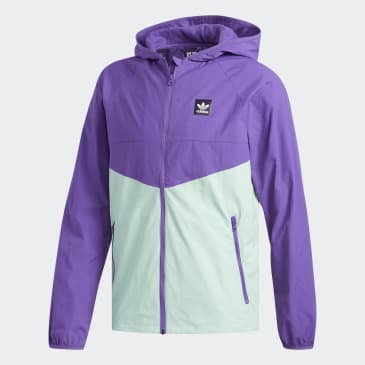 adidas Dekum Packable Wind Jacket - Active Purple/Clear Mint