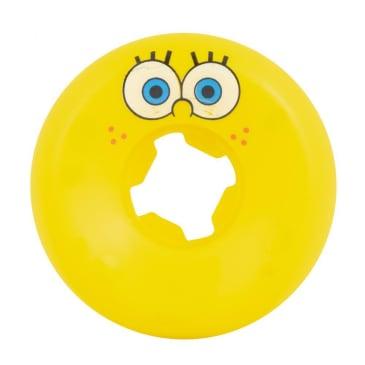 "Slime Balls ""SpongeBob Face"" Skateboard Wheels (Yellow) 97a 53mm"""