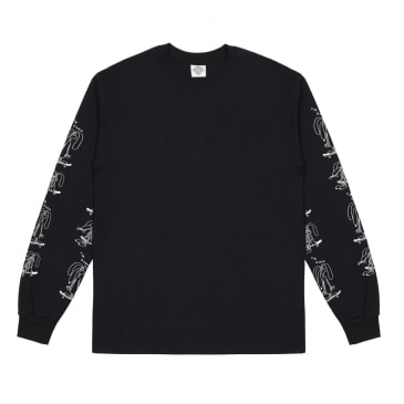 The National Skateboard Co. I'm Down Long Sleeve T-Shirt - Black