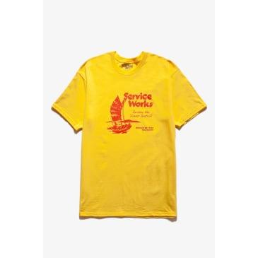 Service Works Sail Away T-Shirt - Yellow