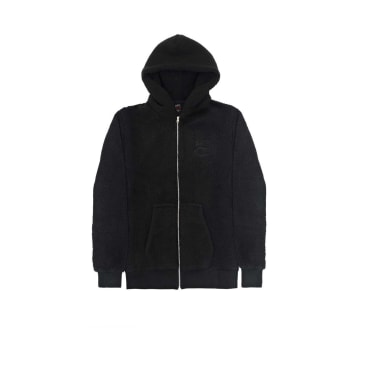 Sex Skateboards Borg Zip Thru Hood - Black