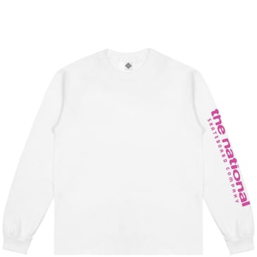 The National Skateboard Co Hook Up Long Sleeve T-Shirt - White