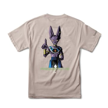 PRIMITIVE DBZ Super Shadow Beerus Tee Safari Green