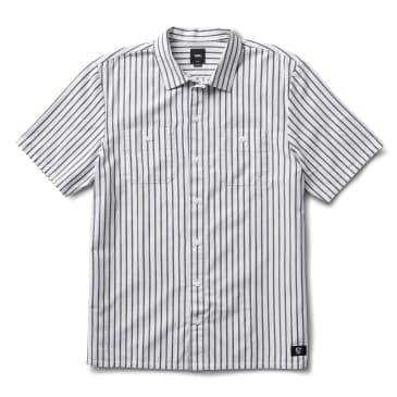 Vans Rowan Zorilla Workwear Striped Shirt - White / Dress Blue