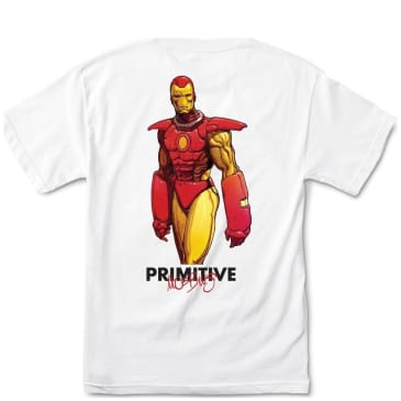 Primitive Iron Man T-Shirt - White
