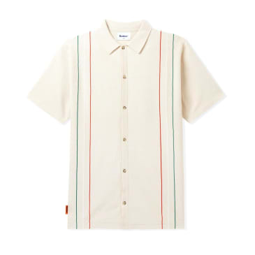 Butter Goods Stripe Knit Shirt - Bone