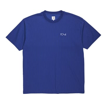 Polar Vertical Stripe Tee - Dark Blue