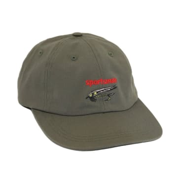 "ONLY NY - ""SPORTSMAN STREAMERS POLO HAT "" (OLIVE DRAB)"