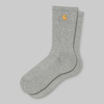 Carhartt WIP - Chase Socks - Grey Heather / Gold