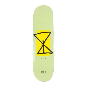 "Sour Sourglass Yellow Skateboard Deck - 7.5"""