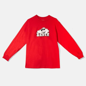Baker Skateboards Cloud 3 Long Sleeve Tee Red