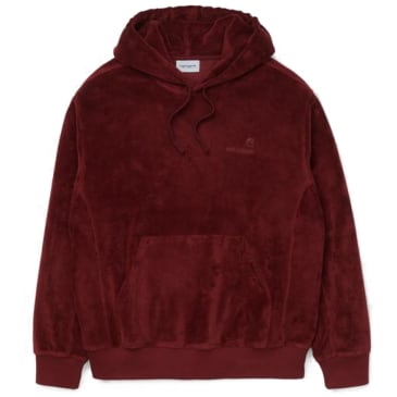 Carhartt WIP Hooded United Script Sweatshirt - Bordeaux