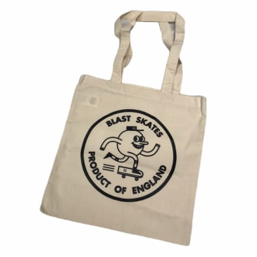 Blast Skates Circle Logo Tote Bag Natural