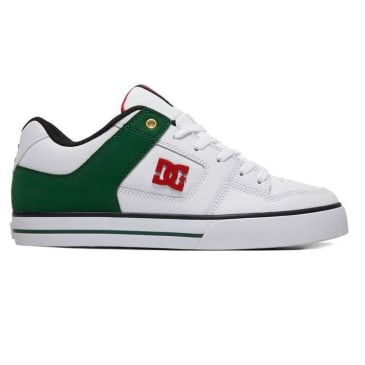DC Pure SE Skate Shoes - White / Green