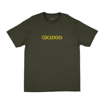 GX1000 Dithered Logo T-Shirt - Military Green