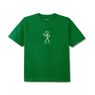June - STAY COOL Youth Tee - Green, White